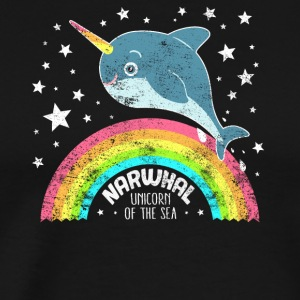 Cute Narwhal Unicorn Of The Sea Funny Saying - Men's Premium T-Shirt