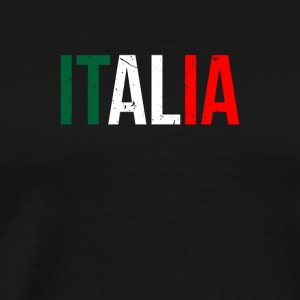 ITALIA PROUD DESCENDENTS FLAG - Men's Premium T-Shirt
