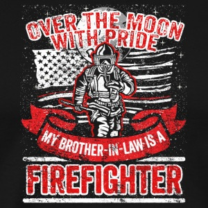 Firefighter Brother In Law Support Proud Family - Men's Premium T-Shirt
