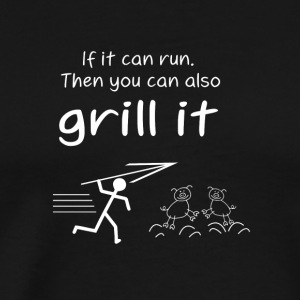 grill it Tee Gift Summer BBQ Animal Arrow - Men's Premium T-Shirt