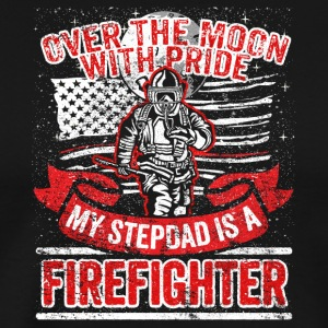 Firefighter Stepdad Support Stepfather Proud Kids - Men's Premium T-Shirt