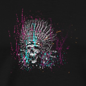 Skull design with lots of textures - Men's Premium T-Shirt