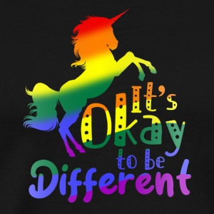 LGBT - It is okay to be different - Men's Premium T-Shirt