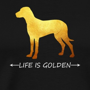 Life is golden - I love success - Enjoy Life - Men's Premium T-Shirt