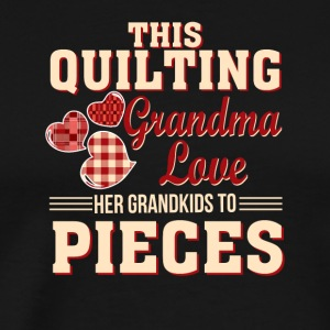This Quilting Grandma Love Her Grandkid - Men's Premium T-Shirt