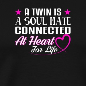 Twins Soul Mate Connected Heart For Life - Men's Premium T-Shirt