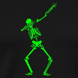 Dabbing Skeleton - Halloween Costumes T-Shirt Gift - Men's Premium T-Shirt