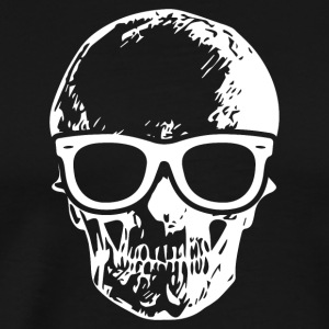 Skull with Sunglasses - Skeleton Halloween T-Shirt - Men's Premium T-Shirt