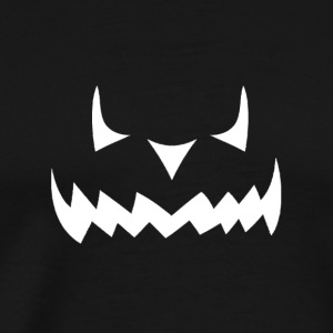 Scary Halloween Jack O Lantern Pumpkin Face - Men's Premium T-Shirt