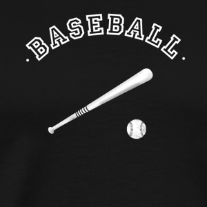 baseball ball stick pitcher glove team club sport - Men's Premium T-Shirt
