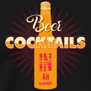 Vitage retro beer cocktails vector image awesome - Men's Premium T-Shirt