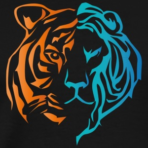 lion tiger - Men's Premium T-Shirt