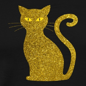 golden cat - kitten kitty cat gold love pet - Men's Premium T-Shirt