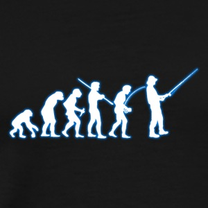 Human Evolution Fisherman - Men's Premium T-Shirt