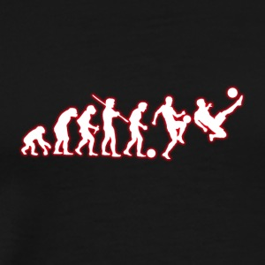 Human Evolution Soccer Player - Men's Premium T-Shirt