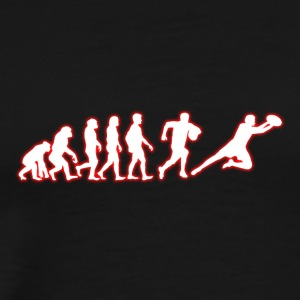 Human Evolution Football Player - Men's Premium T-Shirt