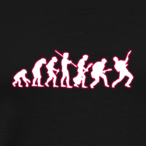 Human Evolution Guitarist - Men's Premium T-Shirt