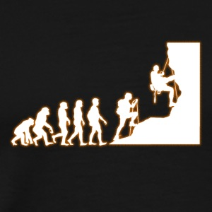 Human Evolution Climber - Men's Premium T-Shirt