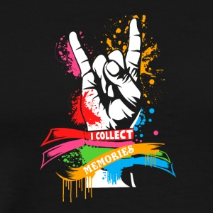 Rock hands I collect memories - Men's Premium T-Shirt