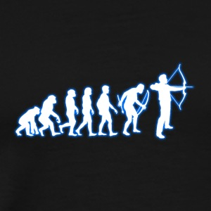 Human Evolution Archer - Men's Premium T-Shirt