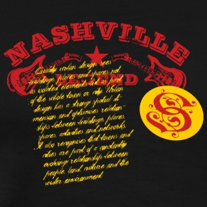 T shirt prints Nashville legend vector image cool - Men's Premium T-Shirt