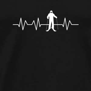Heart for Skiing - Men's Premium T-Shirt