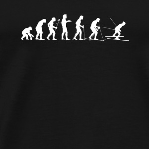 Human Evolution of a Skier - Men's Premium T-Shirt