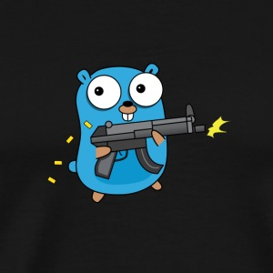 Golang with Gun - Men's Premium T-Shirt