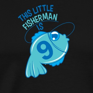 This Little Fisherman Is 9 Years Old - Men's Premium T-Shirt