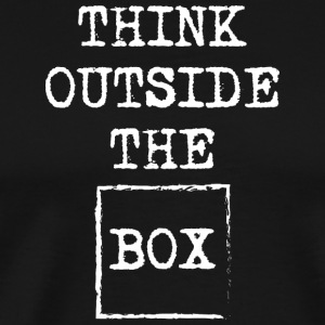 Think outside the box present gift Birthday Xmas - Men's Premium T-Shirt