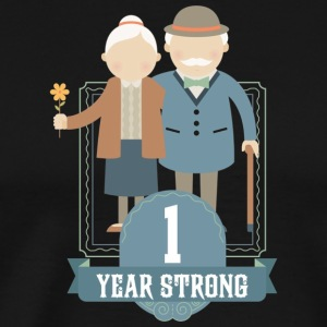1st Wedding Anniversary Gift Meaningful Couples T - Men's Premium T-Shirt