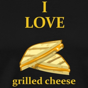 I Love Grilled Cheese Food Lover T Shirt - Men's Premium T-Shirt