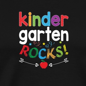 Kindergarten Rocks T Shirt Funny Student and Teach - Men's Premium T-Shirt