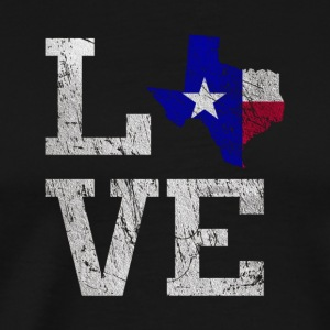 Love Texas T Shirt The Lone Star State Home Tee - Men's Premium T-Shirt