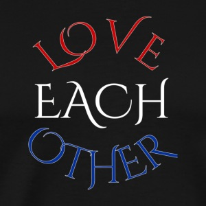 LOVE EACH OTHER Beautiful American Flag T Shirt - Men's Premium T-Shirt