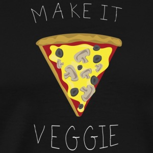 Make it veggie pizza Fun T Shirt vegetarian food - Men's Premium T-Shirt