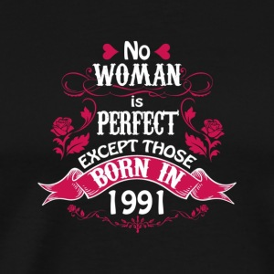 No Woman is Perfect Except Those Who Are Born In 1 - Men's Premium T-Shirt