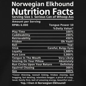 Norwegian Elkhound Shirt Funny Nutrition Facts T S - Men's Premium T-Shirt