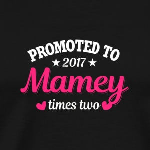 Promoted To Mamey Shirt Twins Two Babies Pregnancy - Men's Premium T-Shirt