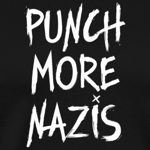Punch More Nazis Funny Political TShirt Support Eq - Men's Premium T-Shirt