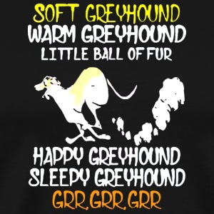 Soft Greyhound Happy Dog - Men's Premium T-Shirt