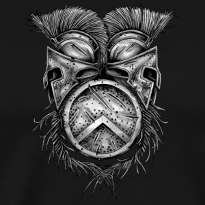 Spartan Helmets and Shield - Men's Premium T-Shirt