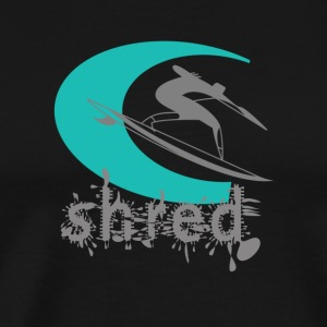 FIT - Shred. Surf logo. - Men's Premium T-Shirt