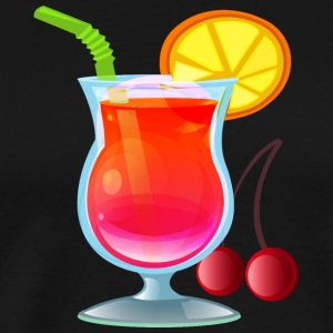 Cocktail juice drink alcohol tropical vector image - Men's Premium T-Shirt