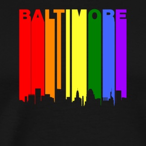 Baltimore Maryland Rainbow LGBT Gay Pride - Men's Premium T-Shirt