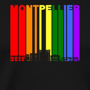 Montpellier France Skyline Rainbow LGBT Gay Pride - Men's Premium T-Shirt