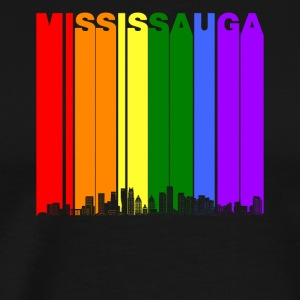 Mississauga Ontario Skyline Rainbow Gay Pride - Men's Premium T-Shirt