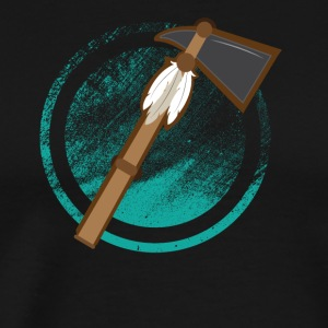 Tomahawk and Feather - Men's Premium T-Shirt