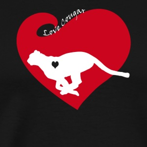 Love Cougar Tee Shirt - Men's Premium T-Shirt