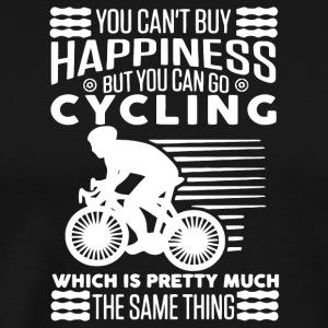 Can't Buy Happiness But You Can Go Cycling Shirt - Men's Premium T-Shirt